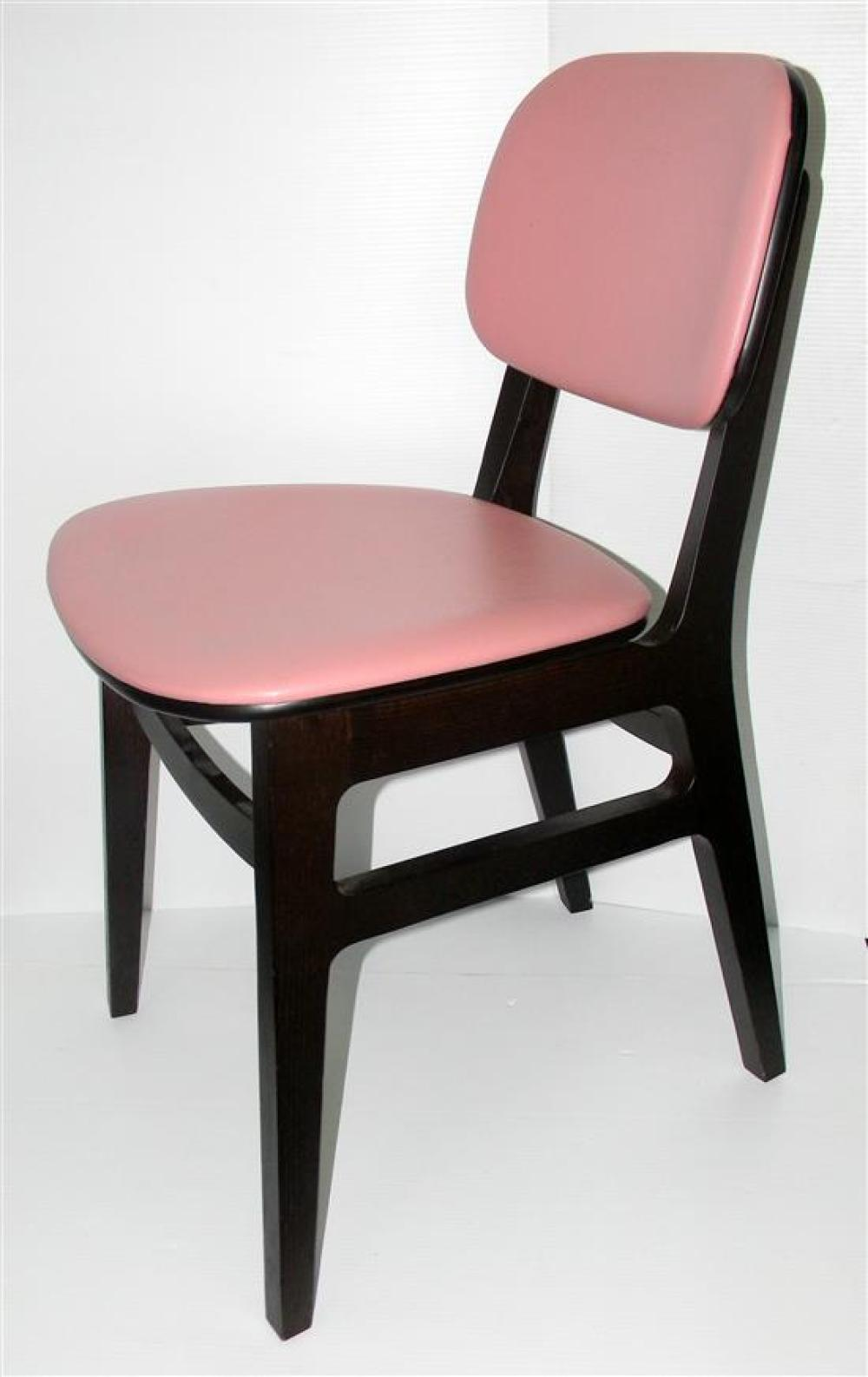 Five Indentity Furniture XKITI Upholstered Dining chairs (RRP$500 each) in stained solid Eurpoean Ash