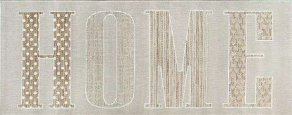 """Three Beige Flat Weave Synthetic """"Home"""" Rugs"""