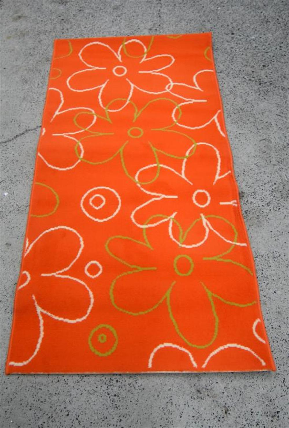 Five Balta Synthetic Rugs with an Orange Floral Design
