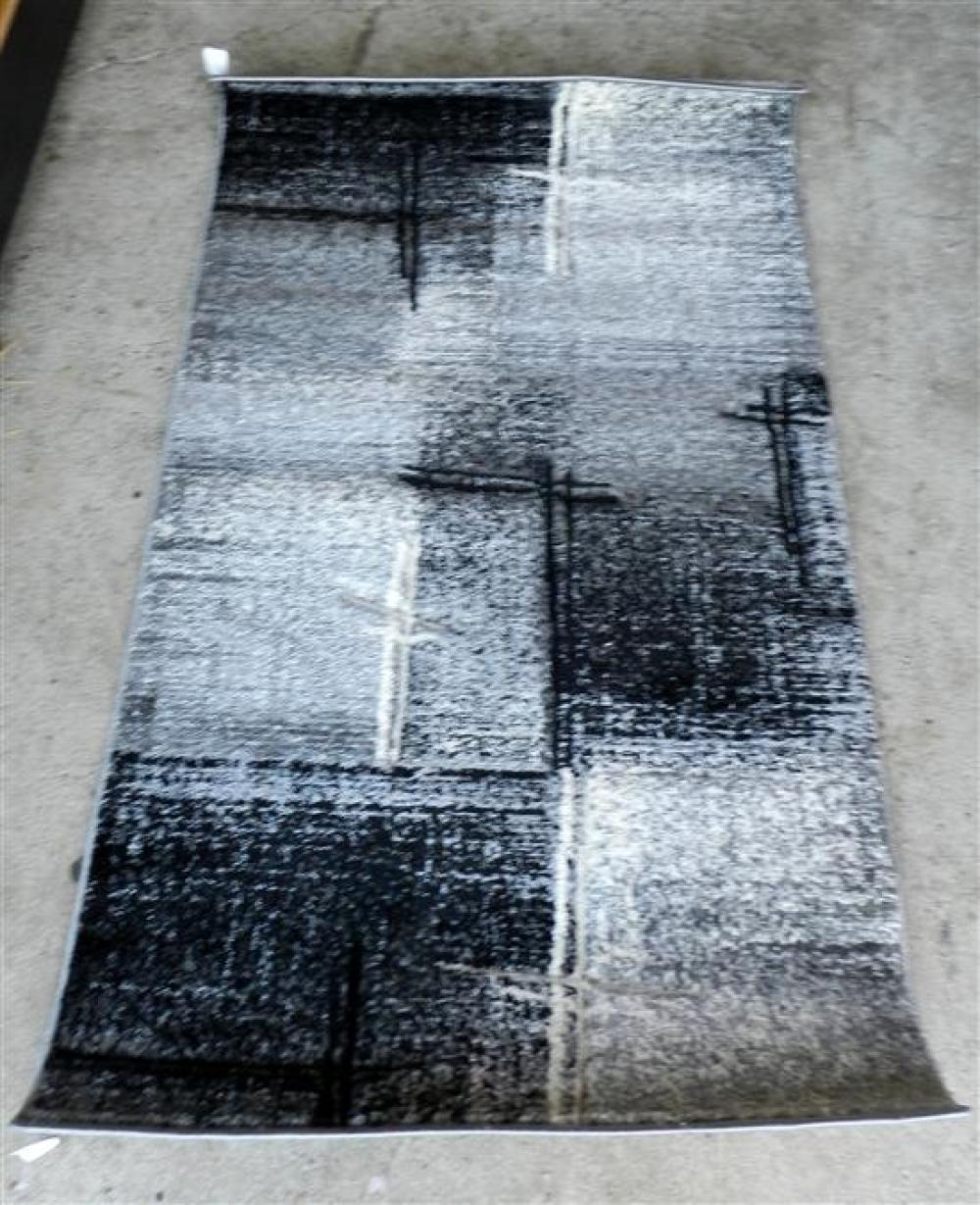 """A Miami """"Impressions"""" Grey Synthetic Rug"""
