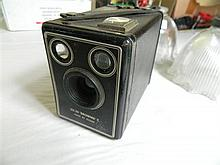 A Kodak Six-20 Brownie C camera