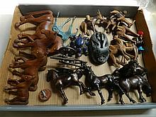 A box of various animal figures