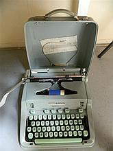 A Hermes 3000 portable typewriter