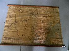 A vintage wall hanging map of Newcastle, Maitland & Cessnock