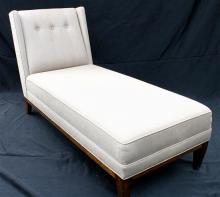 A Linen Button Back Day Bed