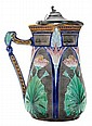 Copeland Lotus Majolica Pitcher