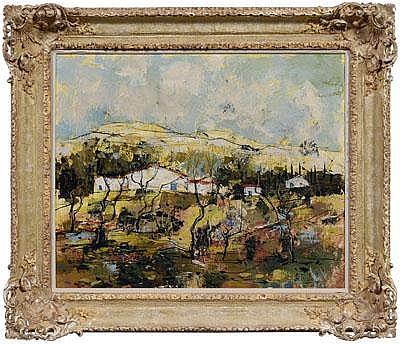Bertoldo Taubert painting (French, 1915-1974), Le