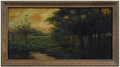 Charles Alfred Meurer painting (Ohio, 1865-1955),