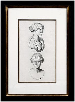 Four engravings after Sandrart: studies of Roman