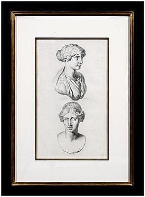 Four engravings after Sandrart: studies of Roman