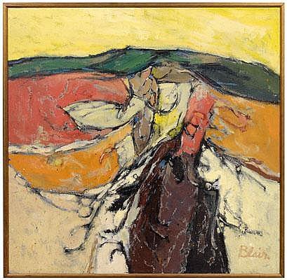 Carl Raymond Blair modern painting (Greenville,