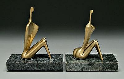 Pair Itzik Benshalom sculptures (Israeli, born