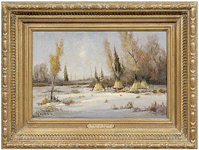 Bill Mittag Western painting (Arizona, born 1935),