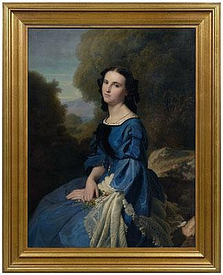 Paul-Jean Flandrin portrait (French, 1811-1902),