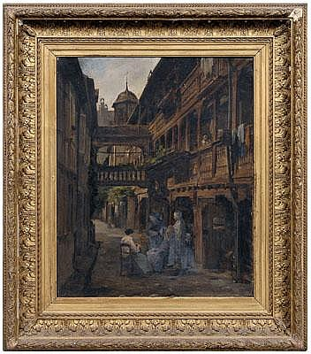 Martin Feuerstein painting (German, 1856-1931),