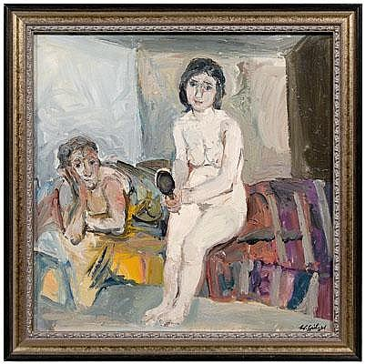 Walter Spitzer painting (Polish/French, born