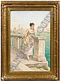 Luigi Olivetti watercolor (Italian, 20th century),, Luigi Olivetti, Click for value