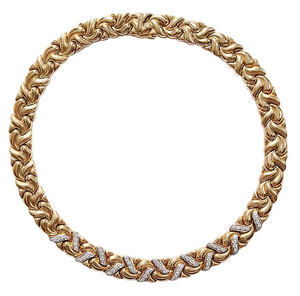 14 Kt. Gold, Diamond Necklace