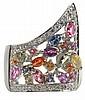 Multi-Colored Sapphire, Diamond Ring