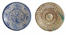 Two Early Ceramic Chargers: Delft,