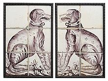 Pair Rotterdam Six-Panel Picture Tiles
