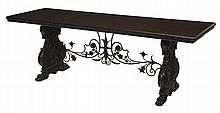 Spanish Baroque Style Carved Walnut
