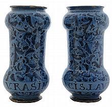 Pair Italian Renaissance Tin-Glazed