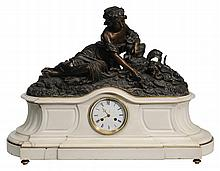 Monumental Figural Cast Bronze and
