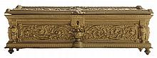 Gilt Bronze French Empire Cabinet