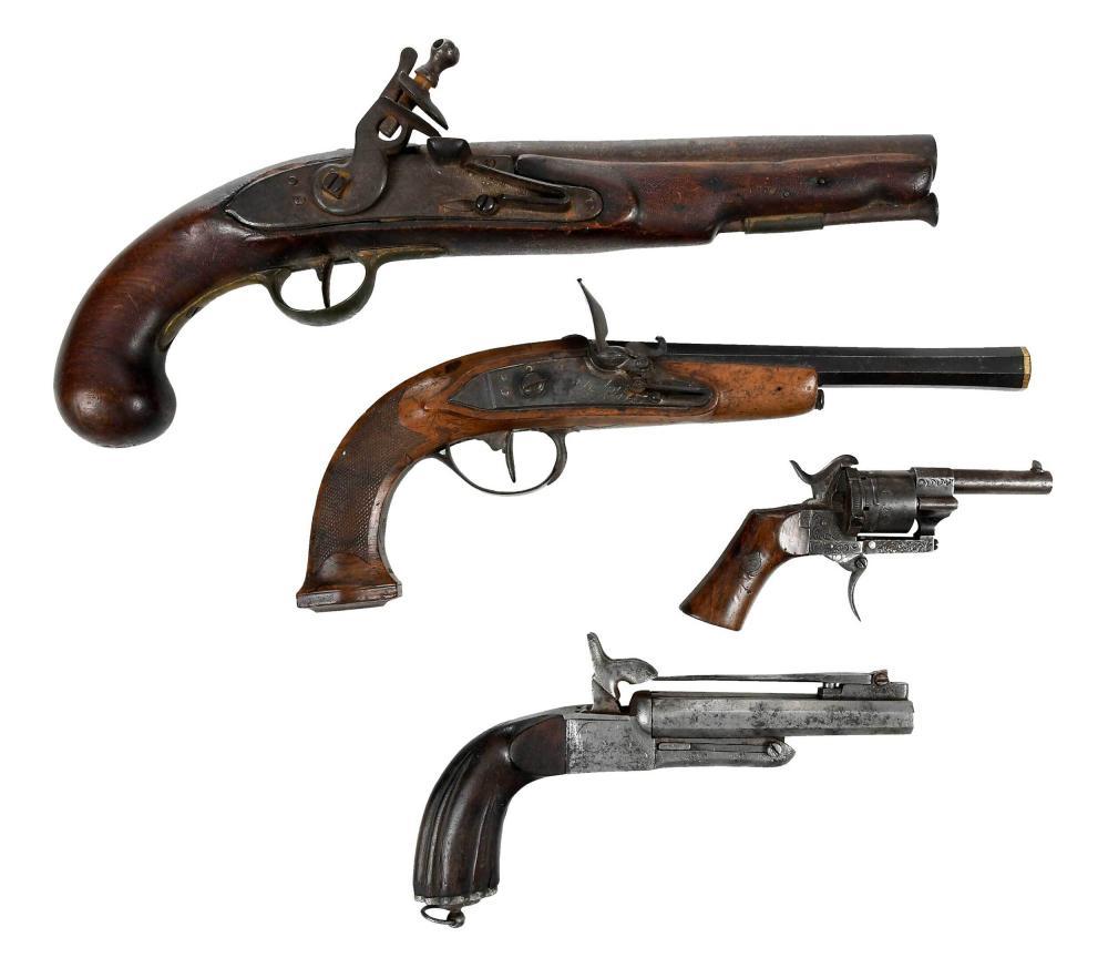 Four Antique European Pistols