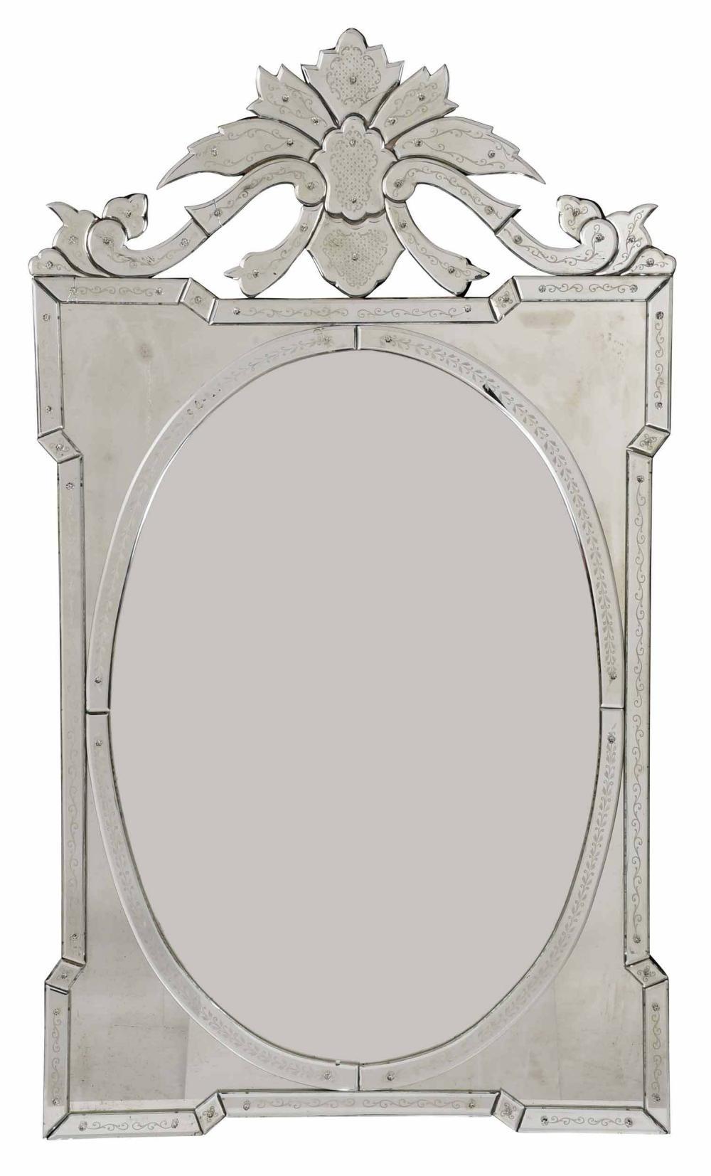 Venetian Cut and Mirror Framed Mirror