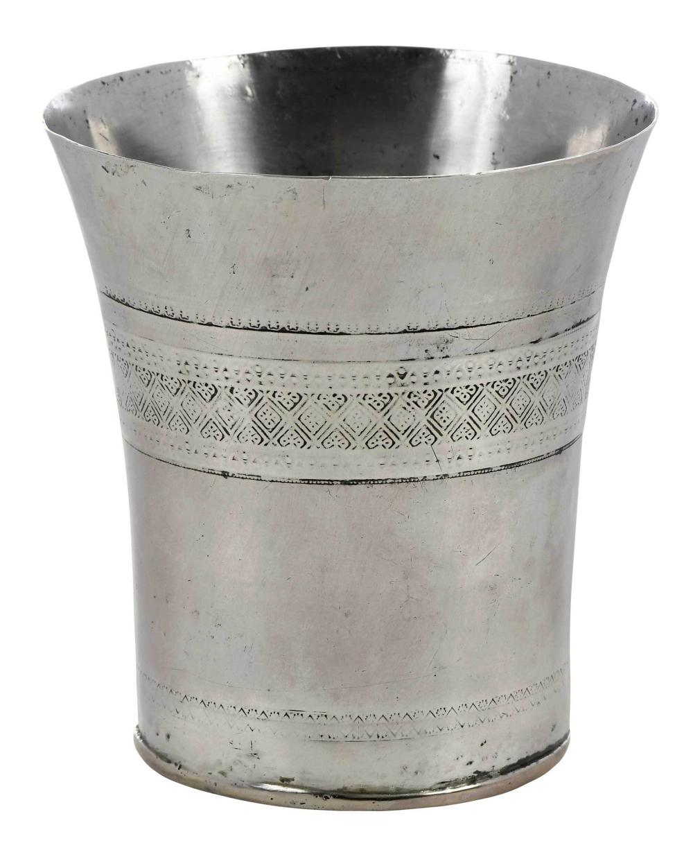 Continental Silver Flared Rim Cup