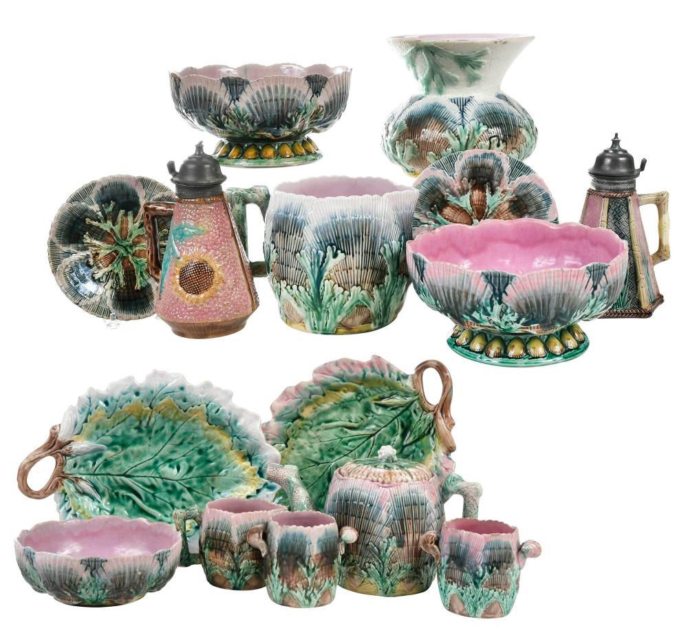 Fifteen Pieces Etruscan Majolica