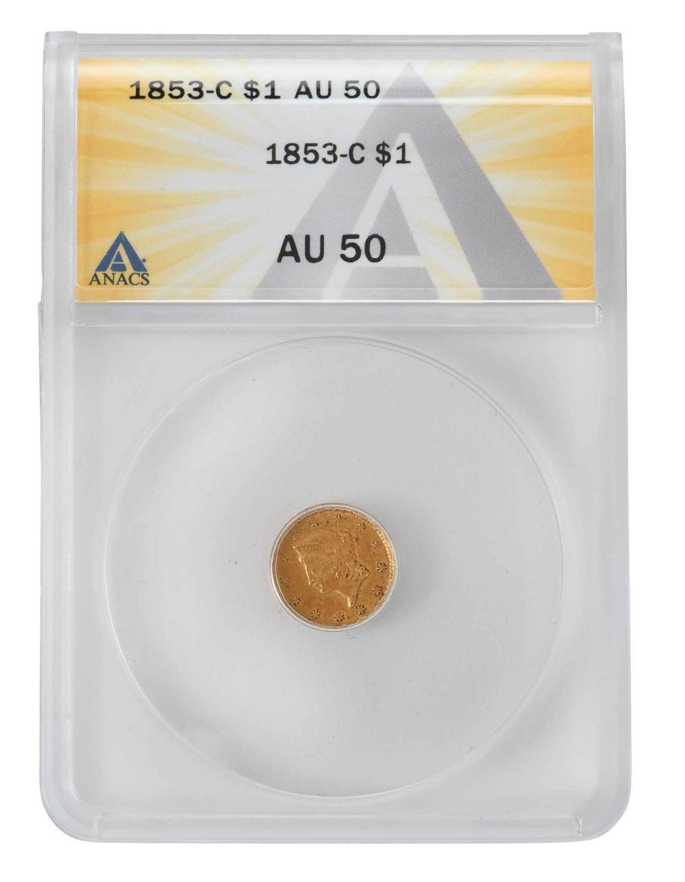 1853-C Gold Dollar