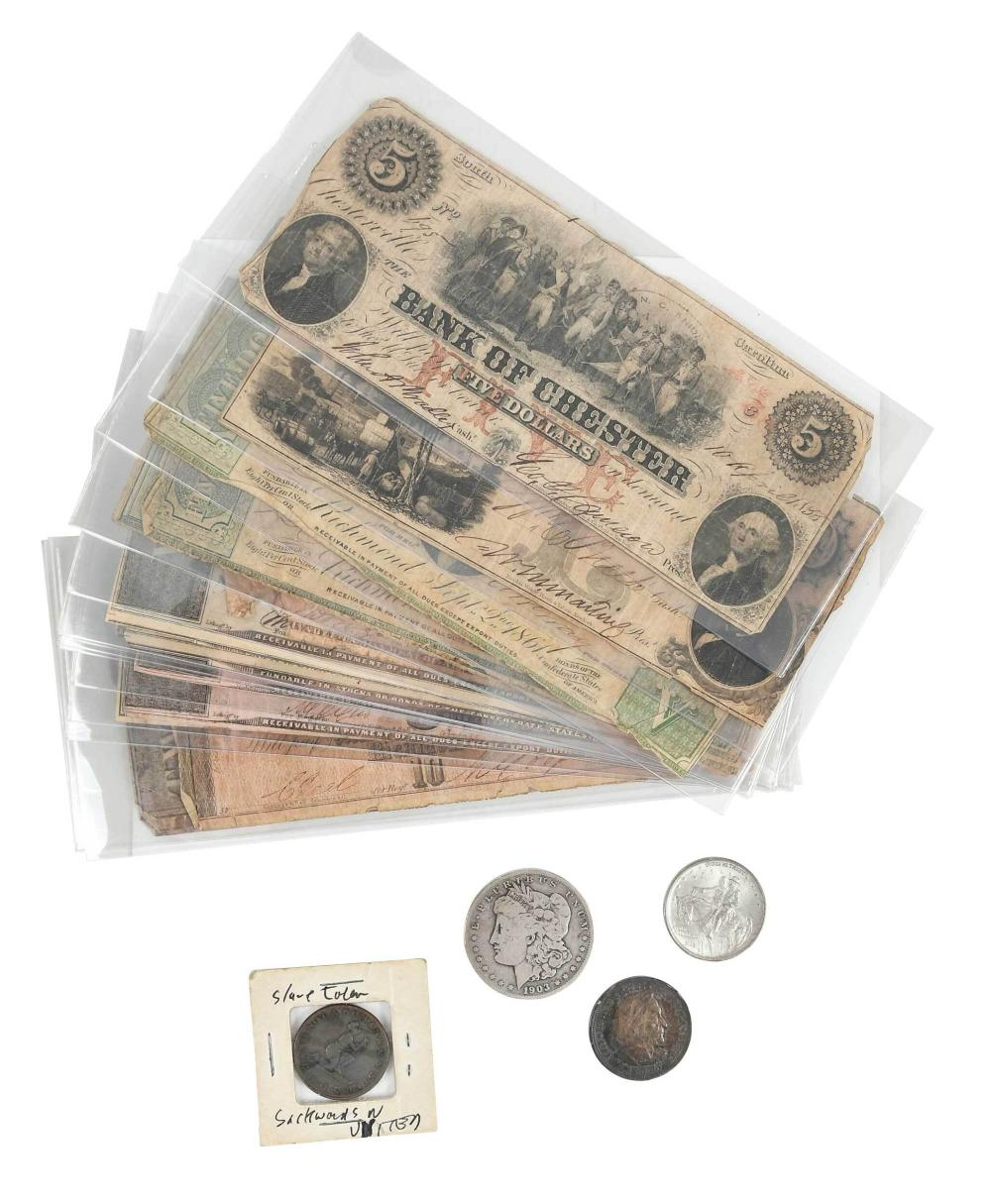 Assorted Coins and Currency
