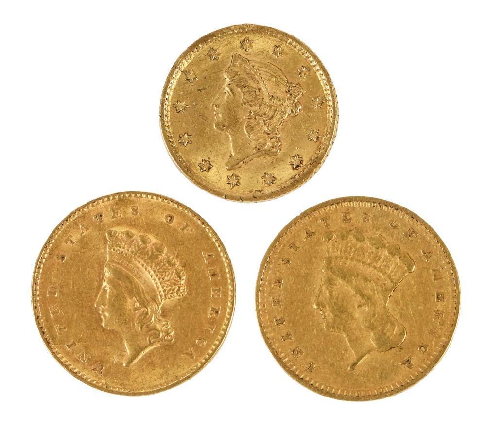 Type I, II, and III Gold Dollars