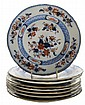 Eight Newstone Pottery Gilt and