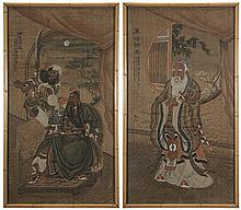 Two Chinese Paintings on Silk