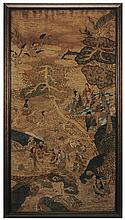 Fine Kesi Silk Panel of Immortals