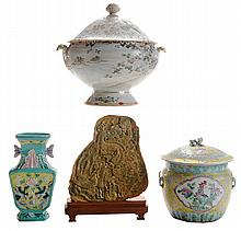 Four Pieces Asian Porcelain and