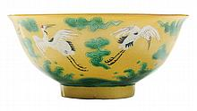 Finely Enameled Yellow-Ground Flying