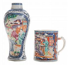 Chinese Export Mandarin Mug, Blue