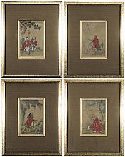 Four Chinese Paintings on Silk