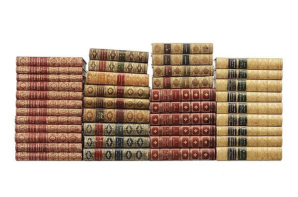 Forty Leather-Bound Books