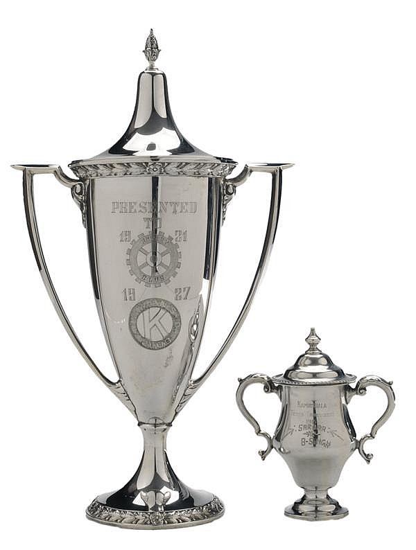 Two Sterling Two-Handled Covered