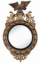 Giltwood Carved Bullseye Mirror