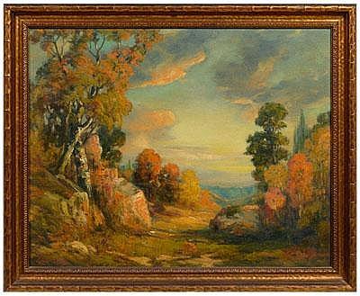Elmer Berge painting (Norwegian/American,
