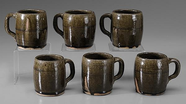 Six Lanier Meaders Mugs