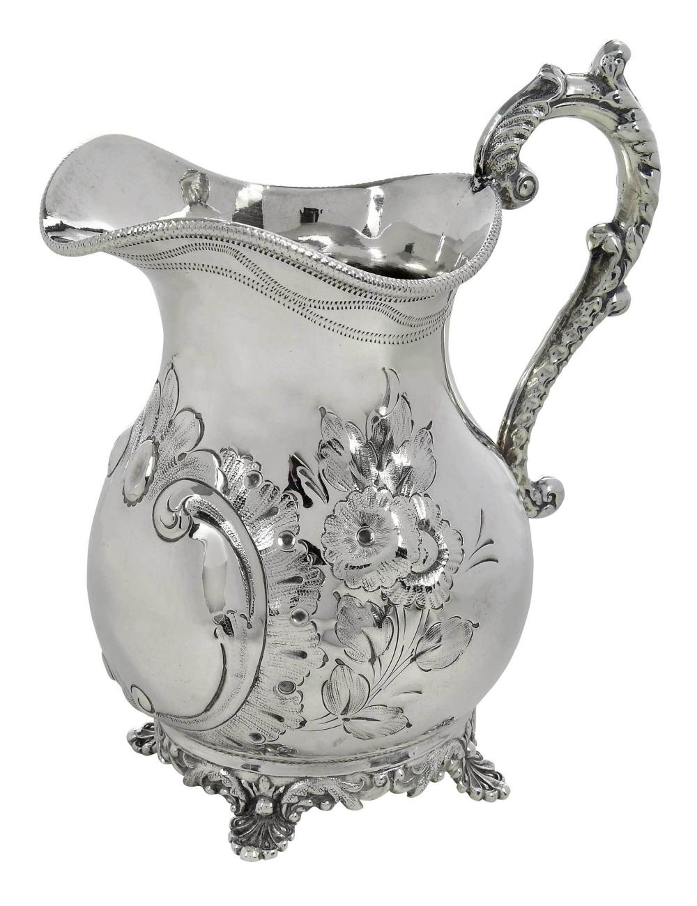 Southern Coin Silver Pitcher, Samuel Wilmot