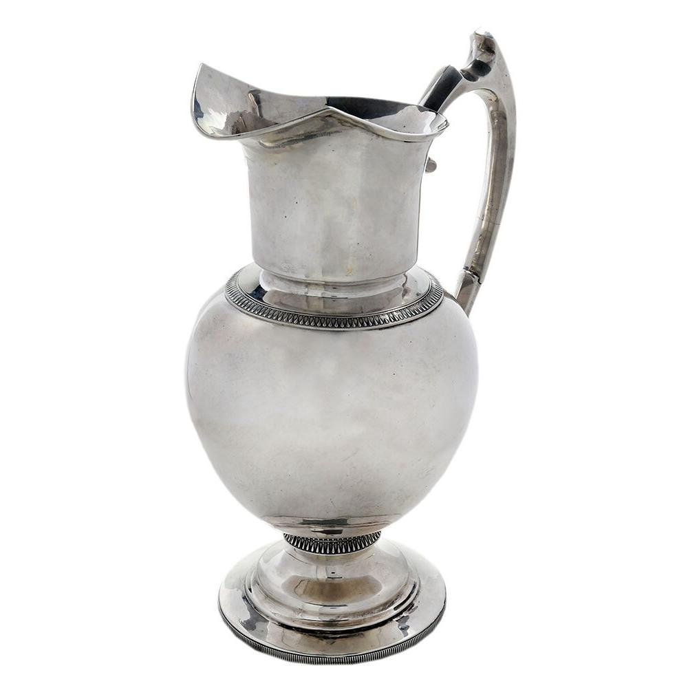 Large New Orleans Coin Silver Pitcher, Adolphe Himmel